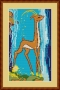 Канва 588-К с рисунком Золотая антилопа