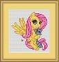 Канва с рисунком Лошадка (Пони с енотиком)