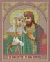 28*34 Икона Петр и Феврония (Бис-18)
