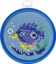 "022 Н ""Рыбки (голубая)"""