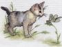 0632 Котёнок со стрекозой