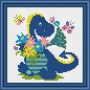 Дракончик с цветами 064-Н