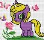 Канва 587 с рисунком Пони и цветок