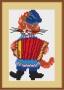 Канва 590-К с рисунком Кот с гармошкой рыжий