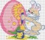 Канва 603-К с рисунком Зайка