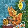 Канва 623-К с рисунком Новогодняя белочка