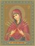 28*34 Икона Богородица Семистрельная (Бис-20)